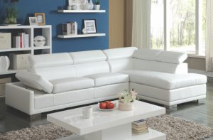 Acme CLEON, White Bonded Leather.