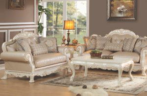 Acme DRESDEN, Antique White Finish