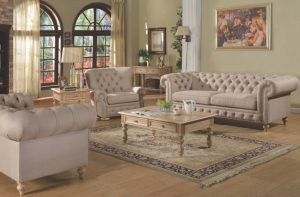 Acme SHANTORIA, Beige Linen Finish.